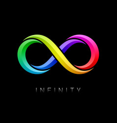 Infinity symbol limitless bright multicolor sign vector