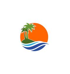 island logo icon design icon concept vector image