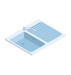 Isometric kitchen sink vector