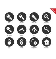 Key icons on white background vector image