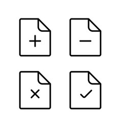line document icons on white background vector image
