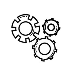 line gear industry engineering process vector image