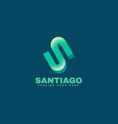 logo santiago gradient colorful style vector image