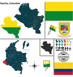 Map of Narino vector