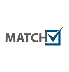 match checklist vector image