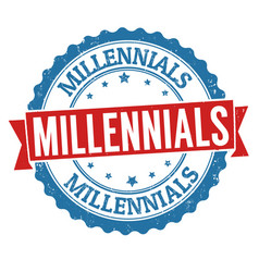 Millennials grunge rubber stamp vector