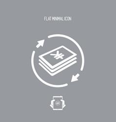 Money transfer icon - yen vector