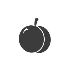 monochrome isolated apricot icon on white vector image