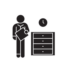 office archive archiver black concept icon vector image