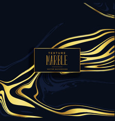premium black and golden marble texture background vector image