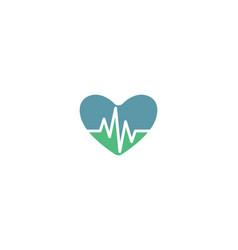 Pulse logo template vector