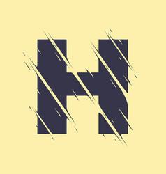 scribbled letter h vector image