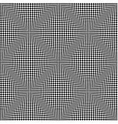 seamless 3d checked pattern vector image