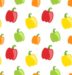 Seamless Pattern with Colorful Bell Peppers vector image