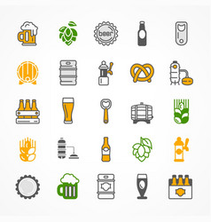 set of color beer icons vector image