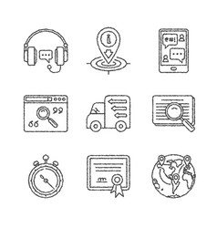 Set of service or support icons and concepts in vector