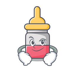 smirking nassal drop character cartoon vector image