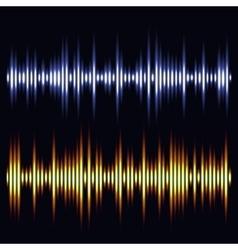 sound waves Audio wave design vector image