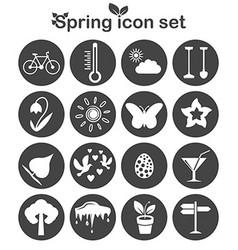 Spring icons set 16 seasonal signs vector image