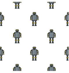 Steel robot pattern seamless vector
