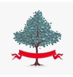 Symbol Tree and ribbon vector image