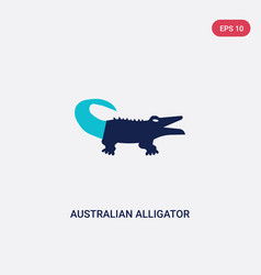 two color australian alligator icon from culture vector image