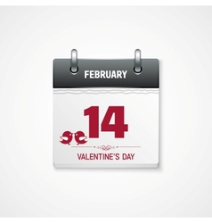 Valentines day calendar 14 february date vector
