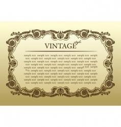 vintage ornament frame decorative background vector image vector image