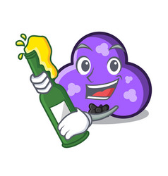 With beer trefoil mascot cartoon style vector