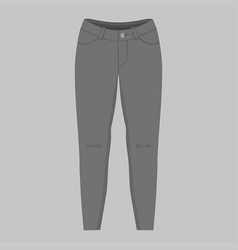 womens black jeans vector image