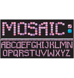 Alphabet - mosaic letters vector image vector image