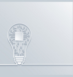 concept light bulb with circuit board vector image vector image