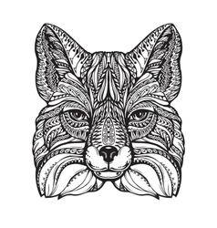 Fox ethnic graphic style with decorative ornaments vector image