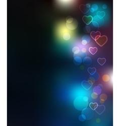 Light Bokeh Merry Christmas Background vector image vector image
