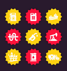 petroleum industry icons vector image