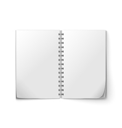 Realistic notepad open vector image