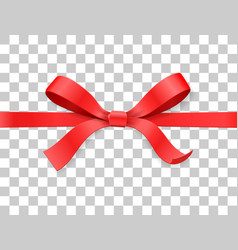 red color satin bow knot and ribbon isolated on vector image vector image