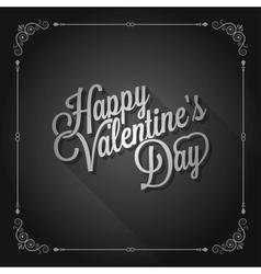valentines day vintage movie design background vector image vector image
