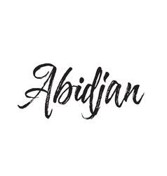 abidjan text design calligraphy vector image vector image