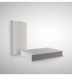 book in perspective on white Ready for your design vector image