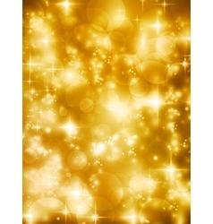 Festive golde bokeh lights background vector image vector image
