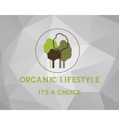 Fresh farm organic product poster design Retro vector image vector image
