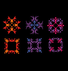 isolated abstract colorful floral decorative vector image