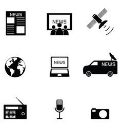 news icon set vector image