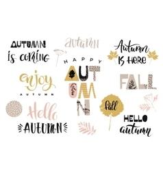 Autumn lettering design vector