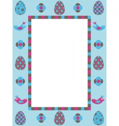 Easter frame decoration vector image vector image