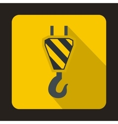 Lifting crane hook icon flat style vector image