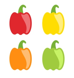 Set Colorful Bell Peppers Isolated vector image vector image