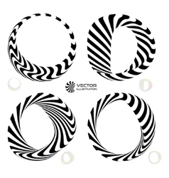set of black and white 3d vector image vector image