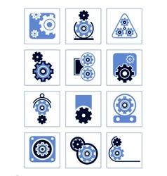 set of symbols Gear vector image vector image